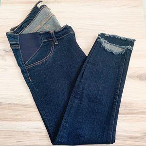 J Brand Mama J Frayed Hem Skinny Maternity Jeans